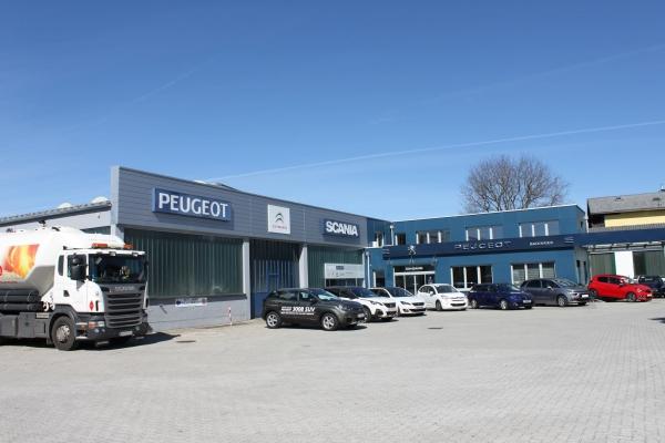 Bild vom Firmengebäude des Autohauses Badinger