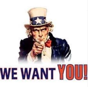Bild des US Präsidenten Abraham Lincoln, der mit dem Finger auf Dich zeigt und sagt WE WANT YOU