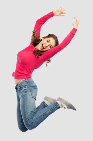 Bild eines springenden Lehrlings